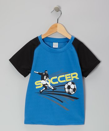 Blue & Black 'Soccer' Tee - Toddler & Boys