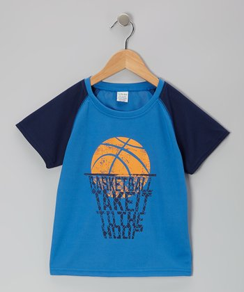Blue To 'The Hoop' Tee - Toddler & Boys