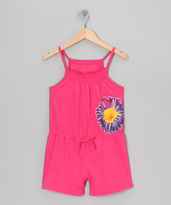Pink Flower Romper - Girls