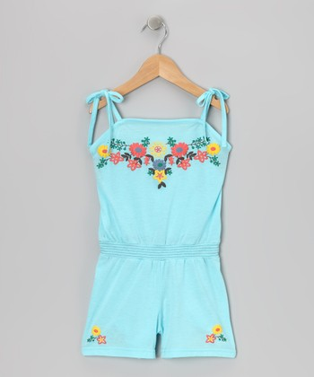 Blue Ribbon Romper - Toddler & Girls