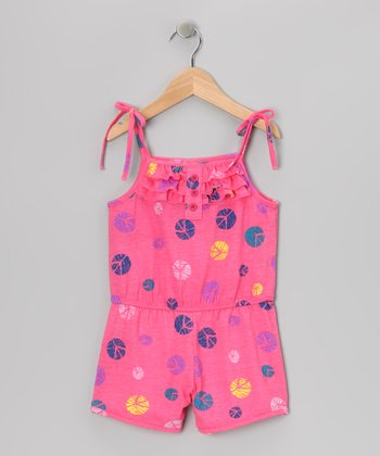 Pink Ruffle Romper - Toddler & Girls