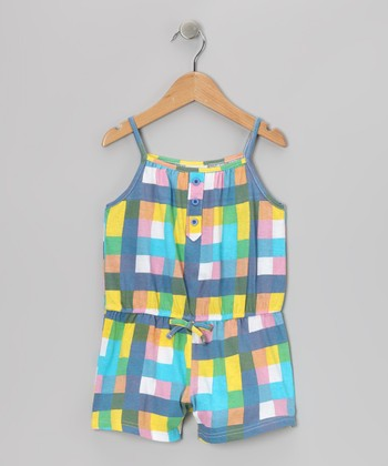 Blue Plaid Romper - Toddler & Girls
