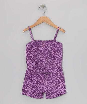 Hot Pink Cheetah Romper - Toddler & Girls