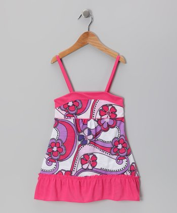 Pink Floral Dress - Toddler & Girls
