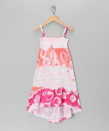 Pink Tie-Dye Dress - Girls