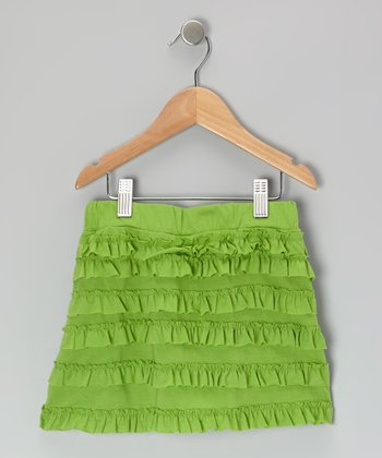 Green Ruffle Skirt