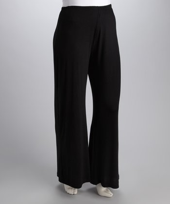 Black Wide-Leg Pants - Plus