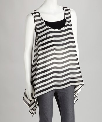 Black & White Sidetail Tank