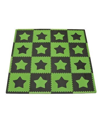 Green & Brown Star Large Play Mat Set