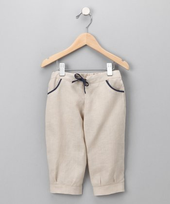 Cream Bermuda Pants - Kids