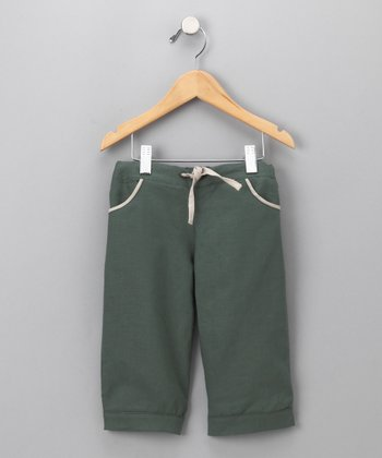 Grass & Cream Bermuda Pants - Toddler & Kids