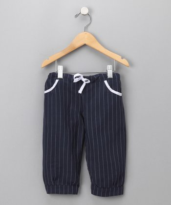 Navy Treats Bermuda Pants - Toddler & Kids