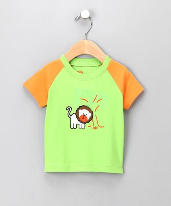 Green Roary the Lion Organic Tee - Infant