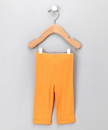 Orange Organic Leggings - Infant & Toddler