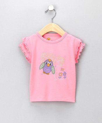 Pink Beaker the Owl Organic Tee - Infant