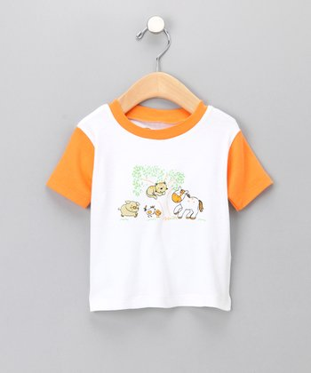 Orange Sweet Little Farm Organic Tee - Infant