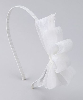 White Briar Bow Headband