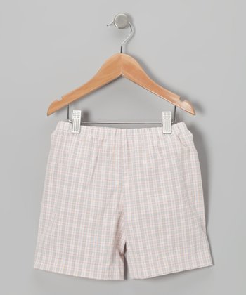 Khaki & Blue Plaid Shorts - Infant, Toddler & Boys