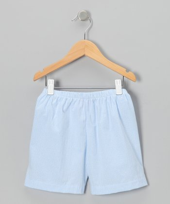 Blue & White Seersucker Shorts - Infant, Toddler & Boys