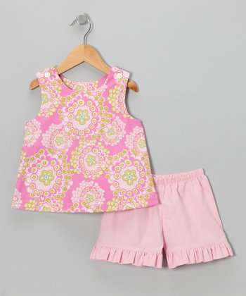 Pink Floral Swing Top & Shorts - Infant, Toddler & Girls