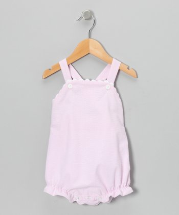 Pink Seersucker Bubble Romper - Infant