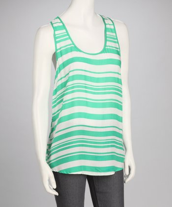 Emerald Stripe Top