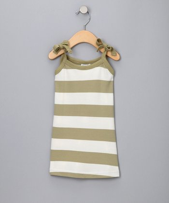 Sage Green Organic Stripe Dress