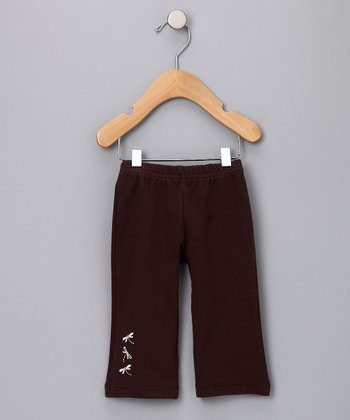 Chocolate Brown Dragonfly Organic Pants - Infant