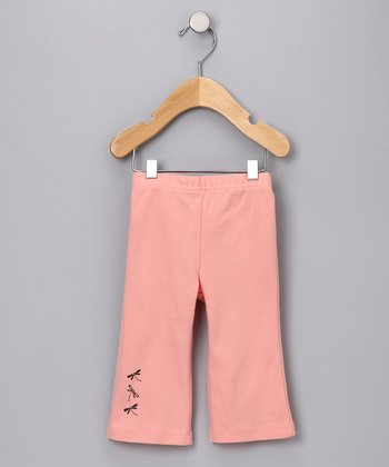 Coral Pink Dragonfly Organic Pants - Infant