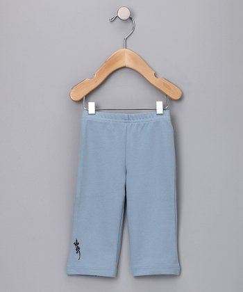 Dusty Blue Gecko Organic Pants - Infant