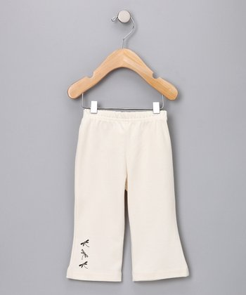Ivory Dragonfly Organic Pants - Infant