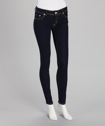 Dark Blue Super Stretch Skinny Jeans
