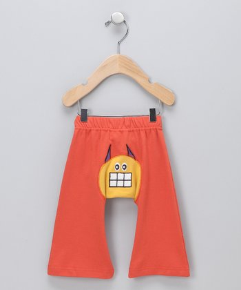 Orange-Red Ha-Ha Hero Organic Pants