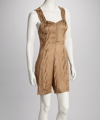 Beige Animal Romper