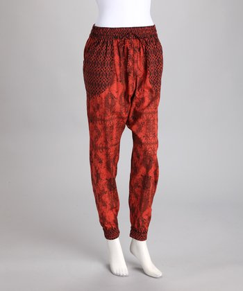 Red Harem Pants