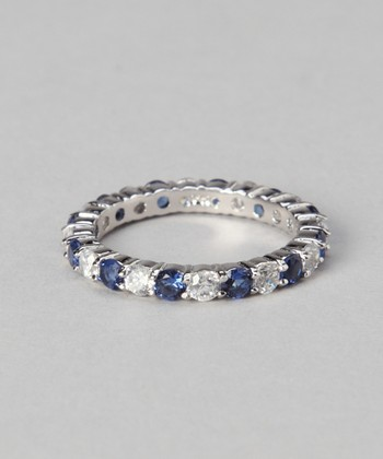 White Gold & Sterling Silver Eternity Ring