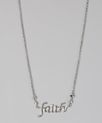 "White Gold ""Faith"" Necklace"