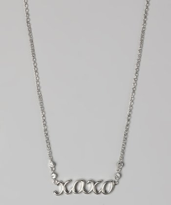 "Silver ""XOXO"" Necklace"