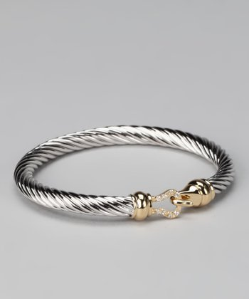 White & Yellow Gold Hook Bracelet