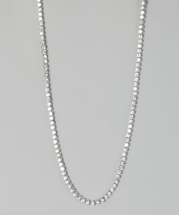 White Gold Crystal Chain