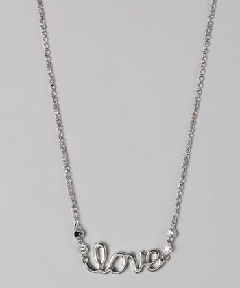 "Silver ""Love"" Necklace"