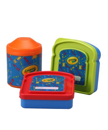 Red & Green Snack Packer & Thermal Container Set