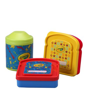 Yellow & Red Snack Packer & Thermal Container Set