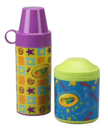 Green & Purple Tall & Short Thermal Containers