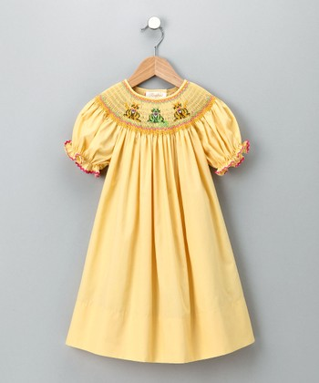 Yellow Cat Bishop Dress - Infant & Toddler