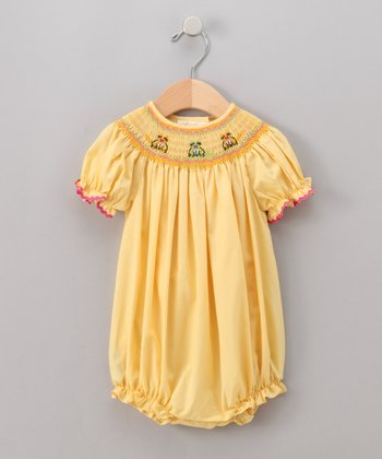 Yellow Cat Bubble Bodysuit - Infant