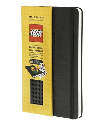 Black Brick Large Ruled LEGO Notebook