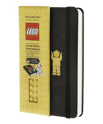 Yellow Brick Pocket Ruled LEGO Notebook