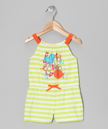 Yellow Stripe Peace Romper - Infant, Toddler & Girls