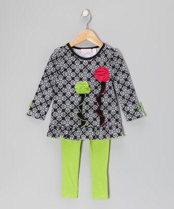 Black Arabesque Tunic & Leggings - Infant, Toddler & Girls